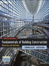 Fundamentals of Building Construction: Materials and Methods by Edward Allen,...