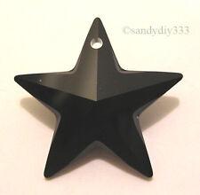 1x SWAROVSKI #6714 JET BLACK  20mm STAR CRYSTAL PENDANT BEAD