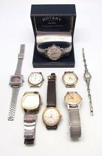 Lot of 8 x Vintage ROTARY, POLJOT, INGERSOLL etc Mechanical Wristwatches WORKING