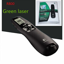Logitech Wireless Professional Presenter R800 Green Laser Pointer & USB Receiver