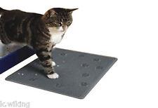 Vorlegematte pour Toilette de chat Bac à litière Tapis gris env. 33 x 43 cm