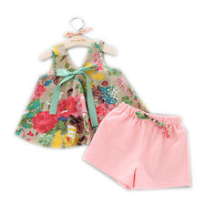 baby girl's vest plus short pants summer Korea style fast free shipping