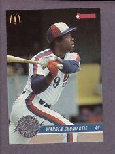 1993 Donruss McDonald's Montreal Expos Warren Cromartie #14 25th Anniversary