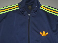 Adidas Firebird Navy Blue Orange Green Track Jacket Mens Large