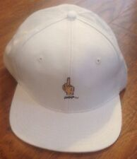 10 DEEP GESTURES MIDDLE FINGER 5 PANNEL HAT In WHITE!!