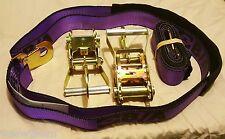 BA Product Purple 2 38-3D ratchet snaphook+ 2 38-22D wheel Straps dynamic tow