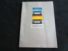 1973 1974 Mercedes SL-class Euro Brochure 350SL 450SL W107 350 450 UK Catalogue