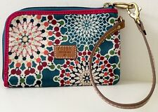 BID ON...✨RARE ITEM✨ NWT FOSSIL KEYPER Teal Geometric Kaleidoscope Wristlet