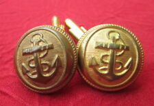 Boutons manchette Cufflink 21mm Collection TROUPES MARINE COLONIALE MILITAIRE 2