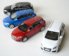 1 X Audi Q 7 Diecast Car model pull Blue Black White Red #12