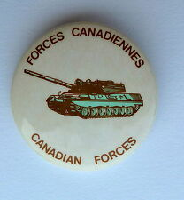 Canadian Forces Tank Forces Canadiennes Lapel Button