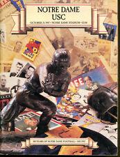 1987 USC v Notre Dame Football Program Ex Condition