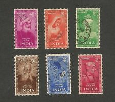 India 1952 Saints & Poets 6v used