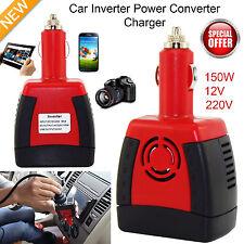 150W AC Auto Power 12V DC + 220V Convertidor De Voltaje Inversor Con USB Enchufe Reino Unido
