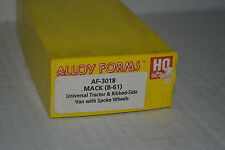 Alloy Forms 3018 Mack (B-61) Tractor Ribbed Side Van Body Ho Scale Metal Kit