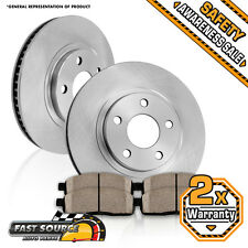 Front Brake Rotors + Ceramic Pads CHEVY MALIBU PONTIAC GRAND AM ALERO CUTLASS