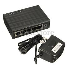 5 Port RJ-45 10/100/1000 Gigabit Ethernet Network Switch Auto-MDI/MDIX Hub DC 5V
