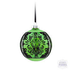 Authentic Disney Parks The Haunted Mansion Large Glass Ball Ornament - Green