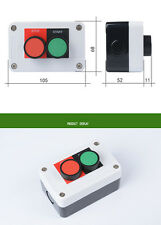 Two Hole Button Switch Control Box Start /Stop 22mm With Waterproof Connector