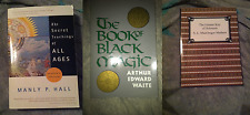 Lot of 3 Classic Magick Books Alchemy metaphysical occult Manly Hall Waite