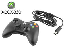 1x Durable Black Wired USB Game Pad Controller For Microsoft Xbox 360 PC Windows