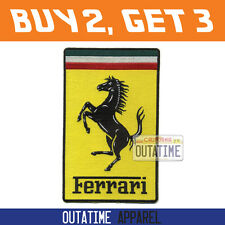 "Offer Buy 2,Get 3   Large Ferrari Embroidered Logo Crest Badge Patch 7.5"" (H)"