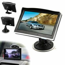 "5"" TFT LCD Car Rear View Monitor Color Screen DVD VCR For Reverse Backup Camera"