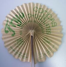 Original 1920's British Fry's Cocoa's Chocolate Advertising Premium Fan