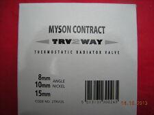 Myson 2trvus 10mm angle nickel 2 voie TRV Thermostatique Valve Radiateur 2trvhead