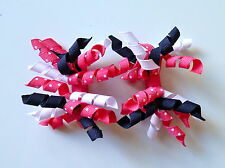 Gymboree Girls Hair Clips x 2 - White, Navy Blue and Pink, Brand New (G14)