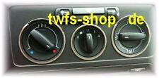 D VW Caddy Chrom Ringe -  Gebläseschalterringe -  Edelstahl poliert   3 Ringe