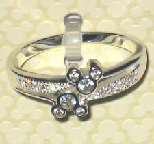 Crystal Gem✿Mickey Mouse Ring Sterling Silver .925 Disney World Authentic Size 7