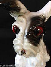 ein kleiner Hund m.Fliege a.d.Nase,schöner alter Rauchverzehrer/Porzellan,selten