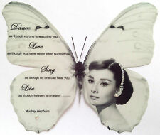 "Black White Audrey Hepburn Quote Print Butterfly  5""  Decal Sticker 3D"