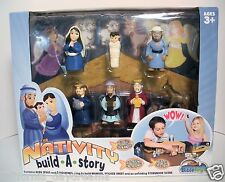 NEW THE NATIVITY SET BUILD A STORY BOOK FIGURES CHRISTMAS BIBLE PLAY TOYS