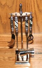 ARTIMINO Stainless Steel+Abalone Mother of Pearl 5 pc BARWARE TOOLS & STAND~ NEW