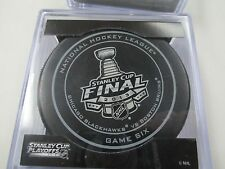 """2013 CHICAGO BLACKHAWKS """"STANLEY CUP FINALS"""" OFFICIAL SEALED GAME #6 PUCK"""