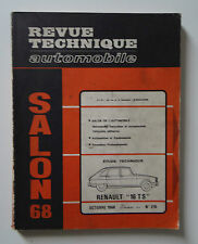 REVUE TECHNIQUE AUTOMOBILE RTA SALON 1968 Renault 16 TS n°270