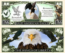 L'AIGLE - BILLET 1 MILLION DOLLAR US ! Pygargue COLLECTION Animal Animaux Rapace