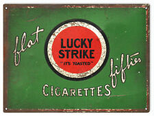 "Lucky Strike Cigarettes Smoke Tobacco Sign 9""x12"""