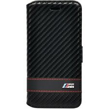 BMW M Black Stripe Carbon Effect Leather Booktype Case for iPhone 6 / 6s 4.7