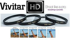 +1/+2/+4/+10 4-Pc Vivitar Macro Set For Canon Vixia HF R60 R62 R70 R72 R600 R700