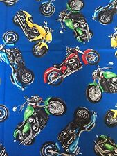 "NEW Motorcycles Bike all over Valance Curtain 42""W x 13"""