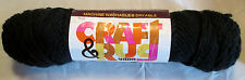 Vintage Woolworth's Craft and Rug Yarn - Colors black gold