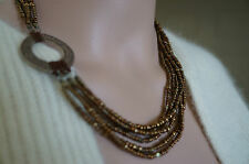 SILPADA Bronze/Copper Beads Anchored to a Sterling Silver Pendant  N1785  NWOT