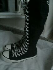 Converse All Star Black Mid Calf Boots Size 6
