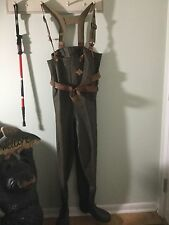 Men's Fishing Waders, Size 9, Chest Waders With Boots Attached, LaCrosse Straps