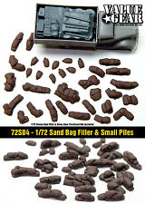 1/72 scale 72SB4 Sand Bags Filler & Piles (32 pieces)
