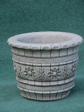 WESTLAND POT Hand Cast Stone Garden Ornament Flower Planter Basket ~ onefold-uk