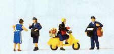 Deutsche Bundespost Motorroller Preiser 10610 Figuren Spur HO (16,5 mm) Zubehör